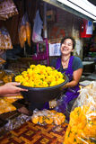 Women selling flowers at the market, Bankok Royalty Free Stock Image