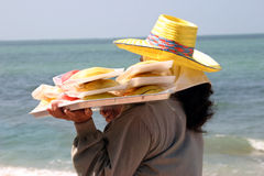 Women selling fruits. On the beach in Thailand Royalty Free Stock Photography