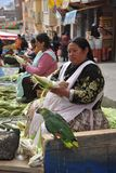 Women selling on the street of La Paz. Royalty Free Stock Photos