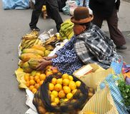 Women selling on the street of La Paz Stock Photography