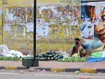 Women selling vegetables in the street Stock Images