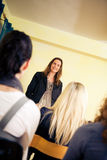 Women Only Seminar. A group of women are attending a lecture Royalty Free Stock Photos