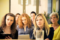 Women Only Seminar. A group of women are attending a lecture Royalty Free Stock Image