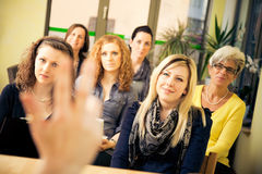 Women Only Seminar. A group of women are attending a lecture Stock Photos