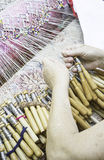 Women sewing by hand Royalty Free Stock Photo