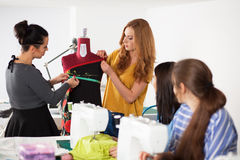 Women in a sewing workshop Stock Photography