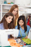 Women in a sewing workshop Royalty Free Stock Photo