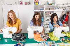 Women in a sewing workshop Stock Photos