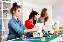 Women in a sewing workshop Stock Image