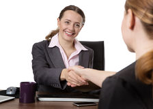 Women shaking hands Stock Image