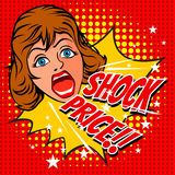 Women Shocked Priced. Women Shocked Priced about business and advertisement, illustration design Stock Images