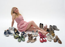 Women and shoes Royalty Free Stock Photo