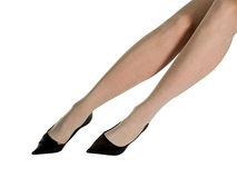 Women and Shoes. Woman's leg and high heel shoes Royalty Free Stock Photos