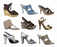 Women Shoes Collection Royalty Free Stock Image