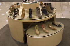 Women shoes department store stock photo