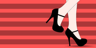 Women shoes fashion banner Royalty Free Stock Photo