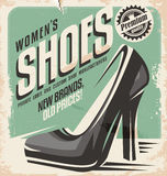 Women shoes flyer design concept Stock Images