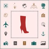 Women shoes icon, the modern silhouette. Menu item in the web design royalty free illustration