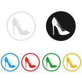 Women shoes icon,sing,illustration Royalty Free Stock Images