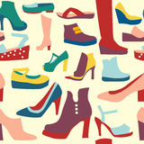 Women shoes pattern Stock Images