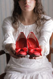 Women shoes red Royalty Free Stock Photography