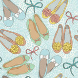 Women Shoes Seamless Pattern. Royalty Free Stock Photo