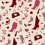 Women shoes. Seamless pattern. Stock Photography
