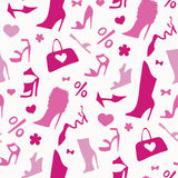 Women shoes. Seamless pattern. Stock Photo