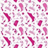 Women shoes. Seamless pattern. Stock Images