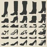 Women shoes set Royalty Free Stock Photos