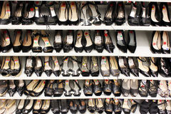 Women shoes on shelves Stock Photo