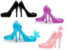 Women shoes vector Stock Photos