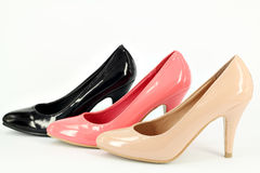 Women shoes on white Stock Photography
