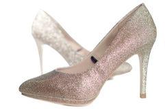 Women shoes on white background Royalty Free Stock Photos