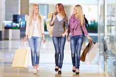 Women in shop Royalty Free Stock Images