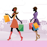 Women Shopper Shows Commercial Activity And Adults Royalty Free Stock Photos