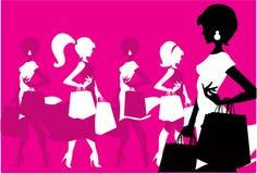 Women shopping Stock Images