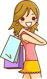 Women Shopping. This is an illustration of a Women shopping Royalty Free Stock Images