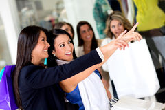 Women shopping Royalty Free Stock Images