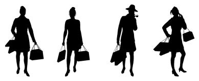 Women Shopping Royalty Free Stock Photo