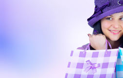 Women with shopping bag Royalty Free Stock Image