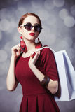 Women with shopping bag Stock Images