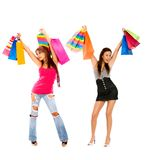 Women with shopping bags Royalty Free Stock Images