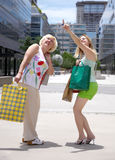 Women with shopping bags Stock Image