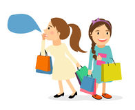 Women with shopping bags Stock Photo