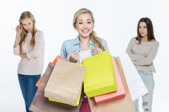 Women with shopping bags Stock Photography