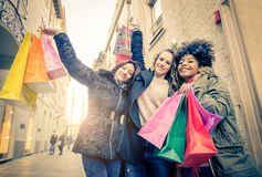 Women and shopping Royalty Free Stock Photos