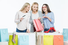 Women with shopping bags Royalty Free Stock Photography