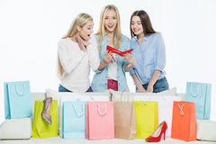 Women with shopping bags Royalty Free Stock Photo