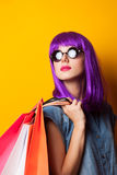 Women with shopping bags. Royalty Free Stock Photos